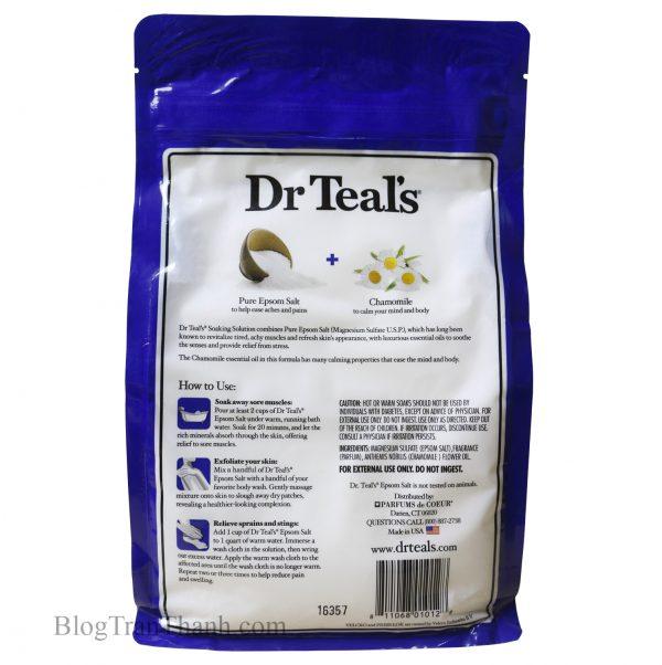 Muối Epsom Dr Teal's Hoa Cúc La Mã – Comfort & Calm – 3lbs (1.36kg)