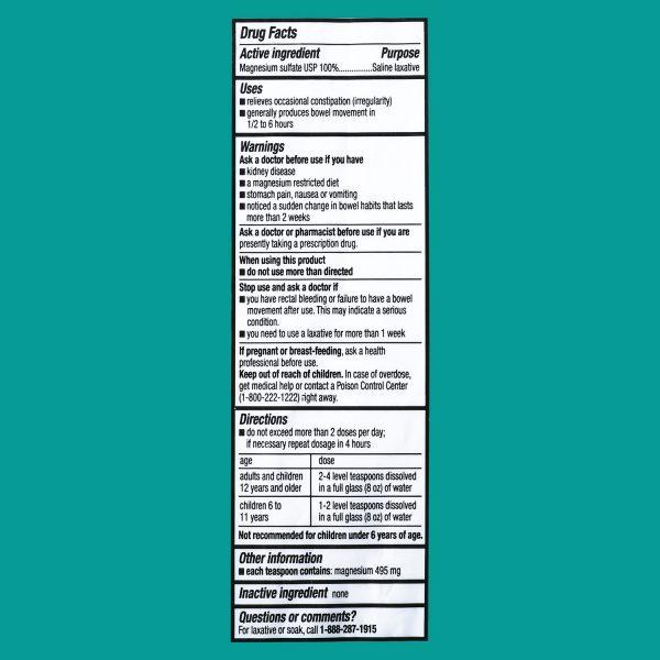 Muối Epsom nguyên chất Equate - 1lb (454g)