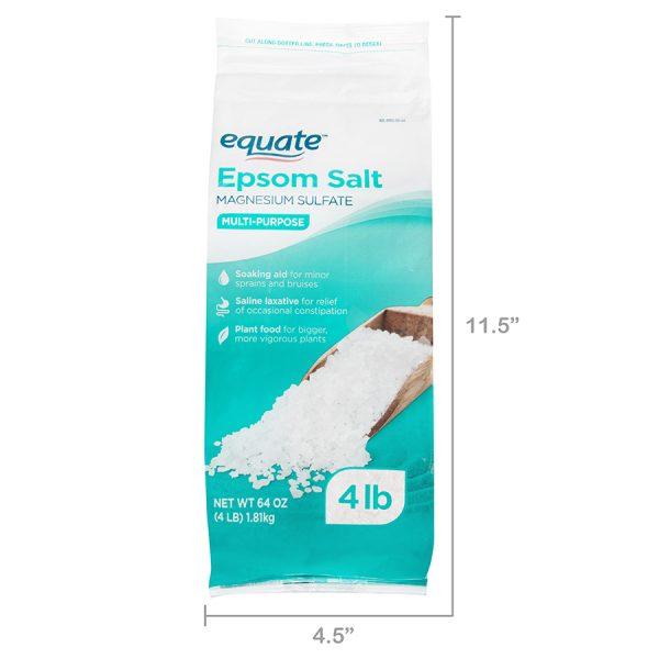 Muối Epsom nguyên chất Equate - 4lb (1.8kg)