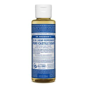 Xà phòng Castile bạc hà Dr. Bronner's - Pure-Castile Soap - Peppermint, 4 fl oz (118 ml)