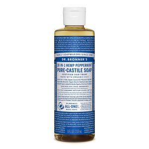 Xà phòng Castile bạc hà Dr. Bronner's - Pure-Castile Soap - Peppermint, 8 fl oz (237 ml)