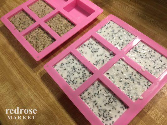 Khuôn làm bánh, xà phòng silicon, 6 bánh, hình chữ nhật, 8.12 x 5.58 x 2.5 cm