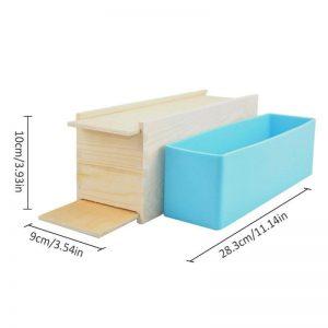 Khuôn làm bánh, xà phòng, gỗ, lót silicon hoa hồng (1kg)