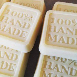 Khuôn làm bánh, xà phòng, silicon hình vuông, 100% Handmade, 6.5 x 6.5 x 2 cm