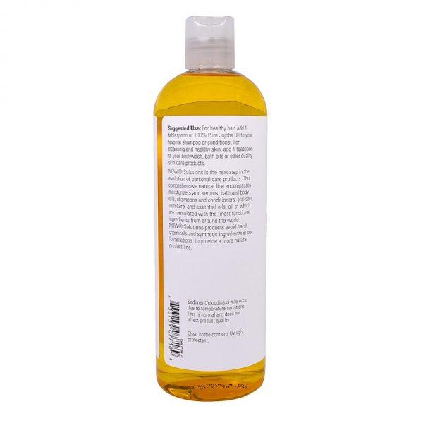 Dầu Jojoba hữu cơ Now Foods, nguyên chất, ép lạnh nước 1, chưa tinh chế, USDA