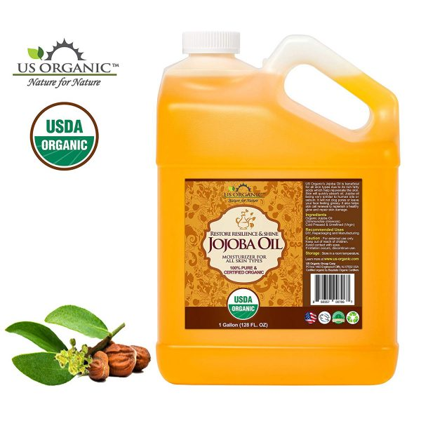 Dầu Jojoba hữu cơ US Organic, nguyên chất, ép lạnh nước 1, chưa tinh chế, USDA