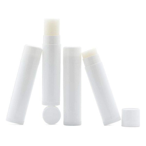 Vỏ son dưỡng handmade SR01 màu trắng đục mờ