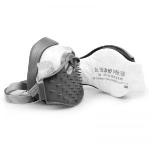 Mặt nạ phòng độc 3M 1244, bông lọc than hoạt tính KN95, lọc khí hữu cơ và bụi