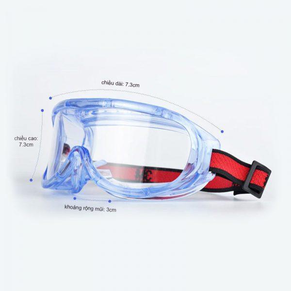 Kính bảo hộ 3M 1623AF, chống hóa chất, tia UV, không bám hơi