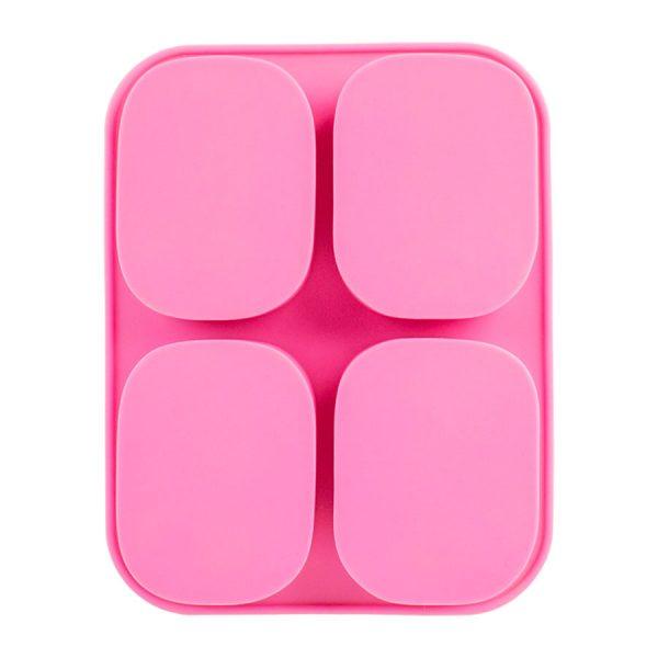 Khuôn silicon 4 bánh thiên thần, 18.3 x 14.3 x 2.6 cm, làm bánh, xà phòng